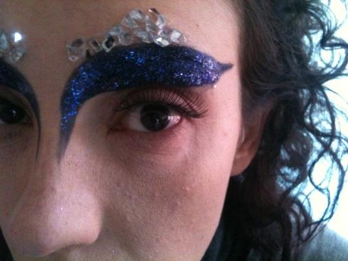 Donna di ghiaccio - carnevale make-up